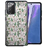CasesOnDeck Hybrid Case Compatible with [Samsung Galaxy Note 20 / Note20 5G] [Brushed Armor] Slim Fitted Shock Combat Cover -Desert Llamas