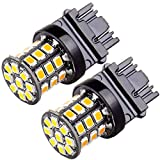 SCITOO 3157 Reverse Light Bulbs Super Bright 3056 3156 3057 6000K Yellow 33SMD LED Bulbs for Backup Reverse Lights,2Pcs