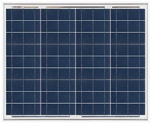 Ahorraluz Placa Panel Solar 50w Policristalino 12v, Negro
