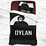 Bob Dylan Soft Comfy Bedding Set with 1 Pillowcases Comforter Cover Lightweight 2 Pieces Bed Sets 55'X83'