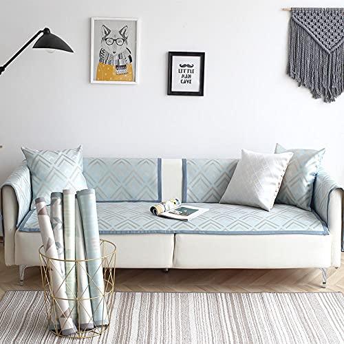 KENEL Anti-resbalón Cubierta Seccional del Couch,Protector de Muebles para Perros,Cojín de sofá Antideslizante sin Deslizamiento de Seda de Hielo de verano-70 * 150cm_#15