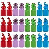 Blue Panda 24 Party Pack favores para los niños - Fiesta Dinosaurio - Jugar Burbujas - Burbujas de jabón de Fiesta Multicolor