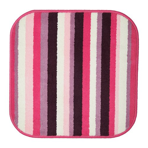 SAXSKÄR Badematte, pink, mehrfarbig, 57 x 57 cm, da bleibt sicher an ihrem Platz Der Badteppich ist mit einem rutschhemmendem Latexrücken ausgestattet.