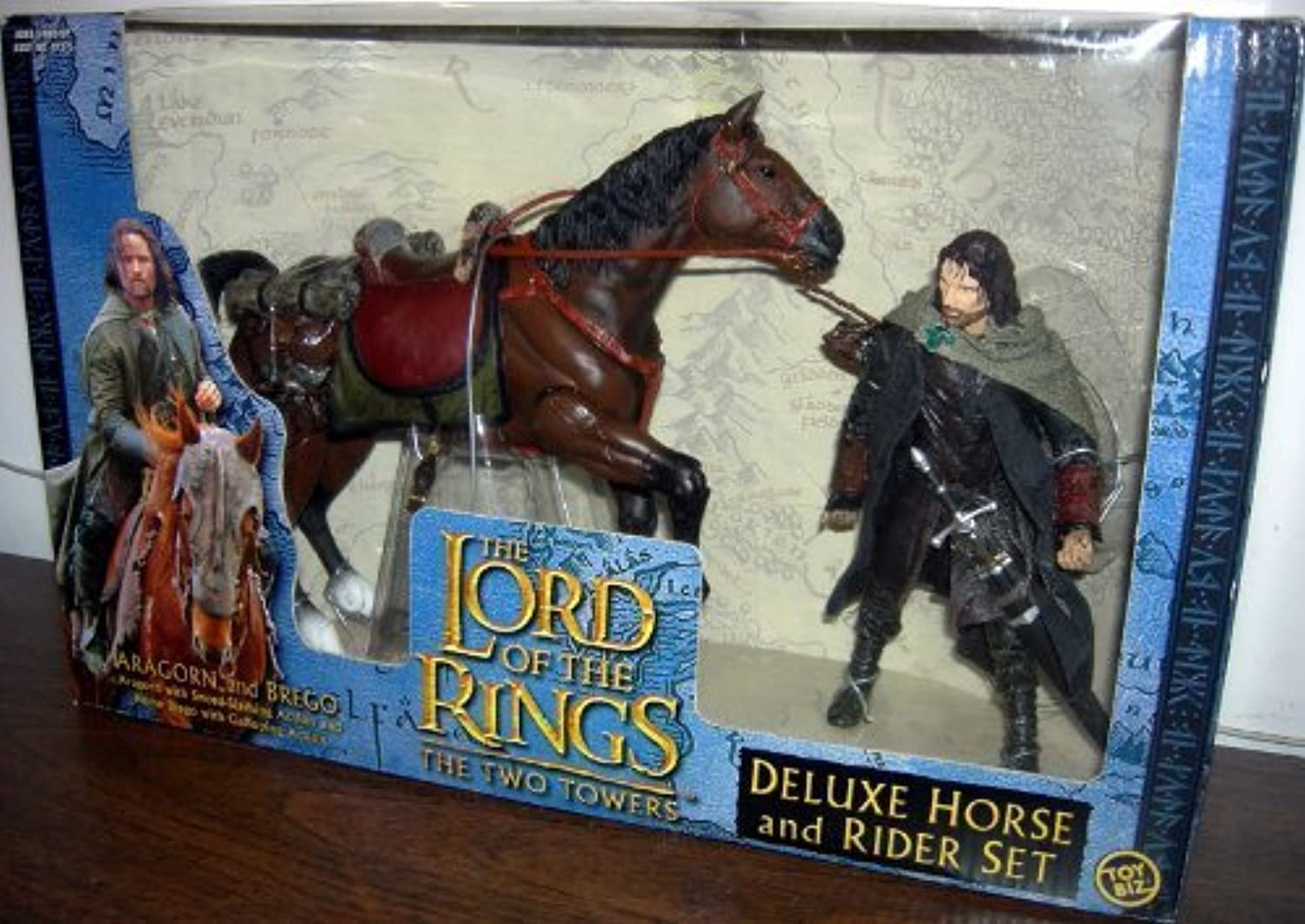 Aragorn with Brego  LOTR Return of the King Deluxe Horse and Rider Set by Toy Biz