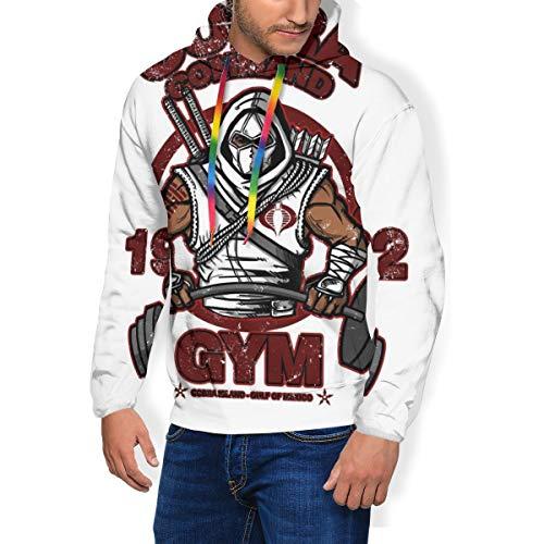 Cobra Command Gym GI Joe Storm Shadow - Sudadera con capucha para hombre Negro Negro ( XL