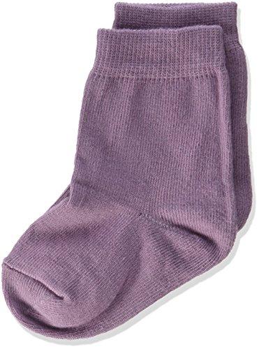 Melton Baby-Mädchen 3er Pack Kinder Basic Unifarben Socken, Violett (Very Grape 713), 22