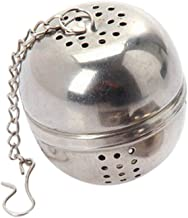 NszzJixo9 Stainless Steel Ball Tea Spice Strainer Infuser Mesh Filter Leaf with Lid Chain Make Stainless Steel Environmentally Easy Clean (S)