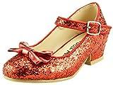 The Doll Maker Bow Top Glitter Strap Pump-FBA173034C-1