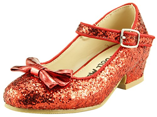 The Doll Maker Bow Top Glitter Strap Pump-FBA173034C-13