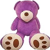 VERCART Groß Teddybär Spielzeug Kuscheltier Gigantischer Puppe Weiches Plüsch Weihnachten Geschenk Violett 100CM