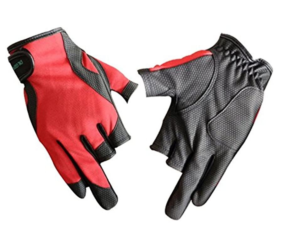 PlayCool Fishing Gloves 3 Low-Cut Fingers Skidproof UV Sun Protection, Driving, Glofing, Sailing, Kayaking, Riding Gloves