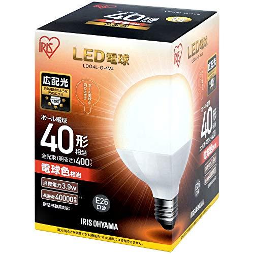 アイリスオーヤマ LED電球E26ボール球 広配光タイプ LDG4L-G-4V4(567958) 1個