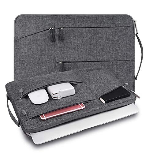 WIWU 裏起毛 PCインナーバッグ 二層構造 11.6/12/13.3/15.6インチ 衝撃吸収 防水 pcインナーケース ノートパソコンケース MacBook Air/MacBook Pro/surface pro/ThinkPad/Dynabook/Chromebook/ラップトップ用 PCバッグ (13.3inch グレー)