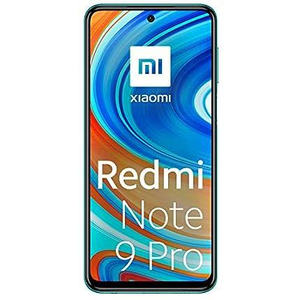 """Xiaomi Redmi Note 9 Pro - Smartphone de 6.67"""" (DotDisplay, 6 GB RAM, 128 GB ROM, 64 MP AI Quad cámara, batería de 502 0mAh) Tropical Green"""