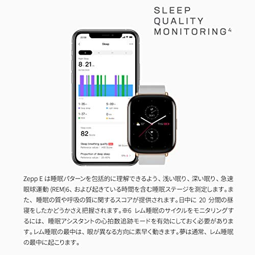 517CjKG670L-「Zepp E Smart Watch Circle」をレビュー!軽くて使い勝手の良いスマートウォッチ
