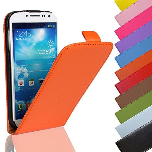 Eximmobile - Flip Hülle Handytasche für Huawei Ascend G525 in Orange | Kunstledertasche Huawei Ascend G525 Handyhülle | Schutzhülle aus Kunstleder | Cover Tasche | Etui Hülle in Kunstleder