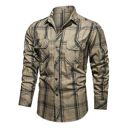 N\P Otoño de los Hombres de la Camisa Camisas de los Hombres Más el Tamaño 4XL de Manga