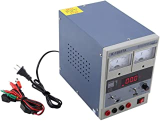 DC電源、Akozon K-1505TA調整可能DC安定化電源メンテナンス機器15V 5A信号受信インジケータ、電話およびコンピュータの修理(US PLUG)
