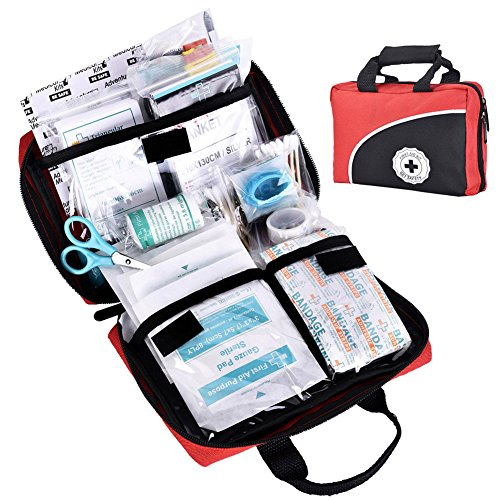 REEBOW TACTICAL GEAR 115 Piece First Aid Kit Medical Supply Survival Gear Bag...