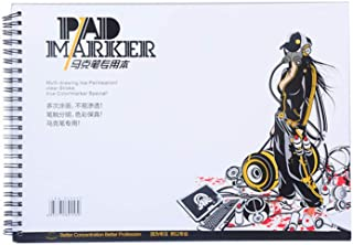 S-TROUBLE34 Feuille A3 / A4 / A5 marqueur Professionnel Papier Spirale Croquis Bloc-Notes Livre Peinture Dessin Artiste F...