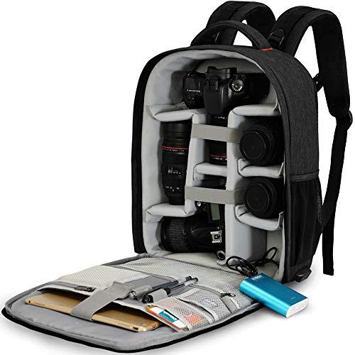 CADeN Kamerarucksack Spiegelreflex Tasche Wasserabweisend Fotorucksack mit Regenschutz Camera Backpack Bag Kompatibel mit Canon Nikon Sony 2 DSLR 7...