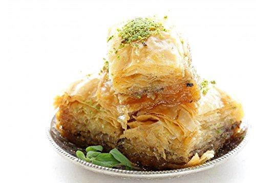 wallmonkeys Türkisch Arabisch Dessert Baklava mit Honig und Muttern schälen und Stick Wandaufkleber wm99137(18in w x 13in H)