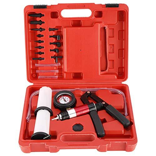 FreeTec Bremsenentlüftungsgerät Auto Werkzeug Bremsen entlüfter Set Vakuum Pumpe Satz inklusive Koffer