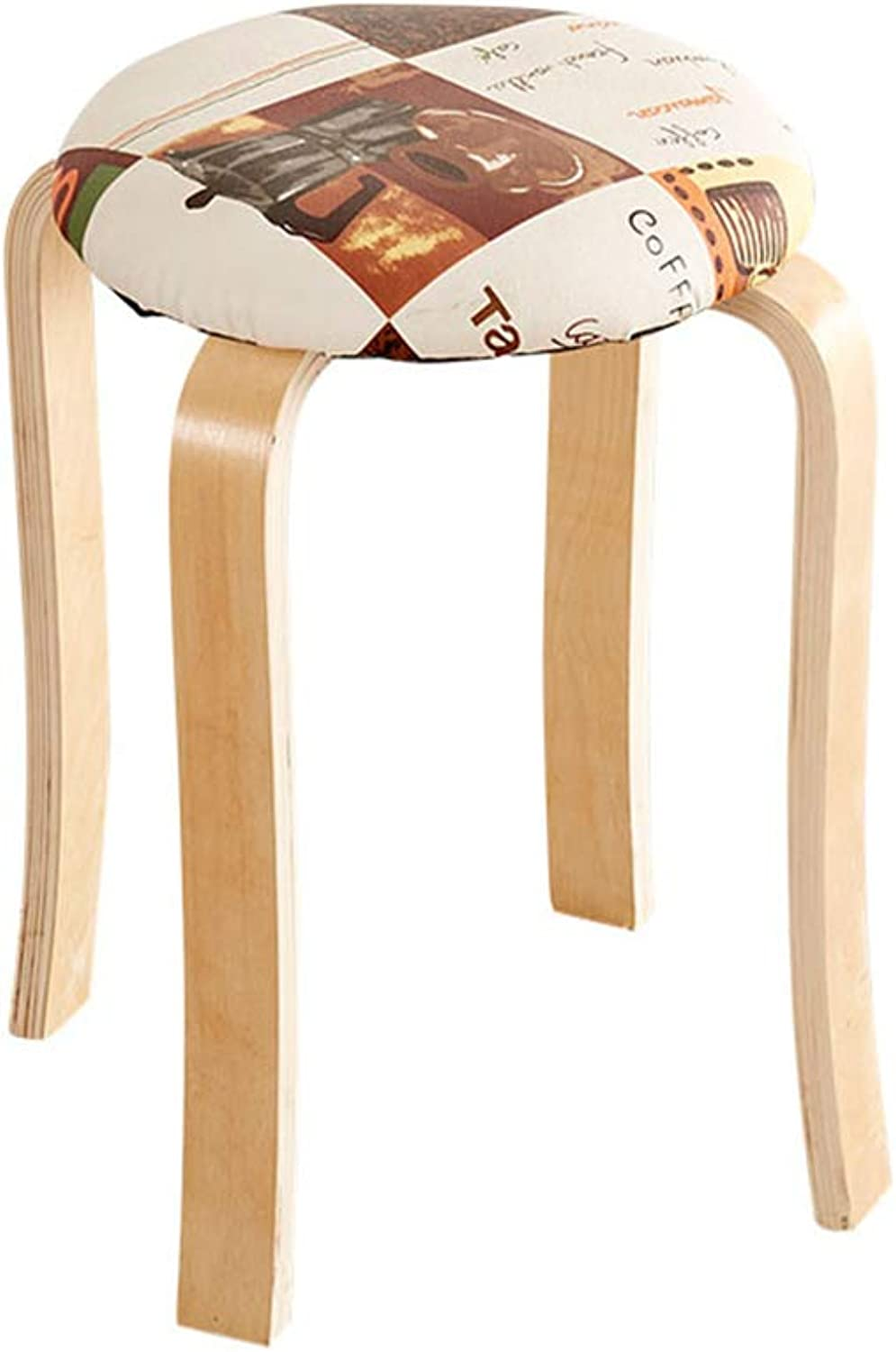 Small Bench PU Leather Cushion Breakfast Stylish Multifunctional Chair Dressing Stool High Stool Restaurant Bench (color   A, Size   45x32cm)