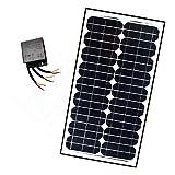 ALEKO SP30W24VLM118 24V 30-Watt Monocrystalline Solar Panel LM118 Charging Controller Kit