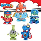Rivals of Kaboom Peluche Superzings Surtido 5 Personajes Kid Kazoom Enigma Mr King Professor K Kid Fury Peluche Original Niño Play by Play 27cm