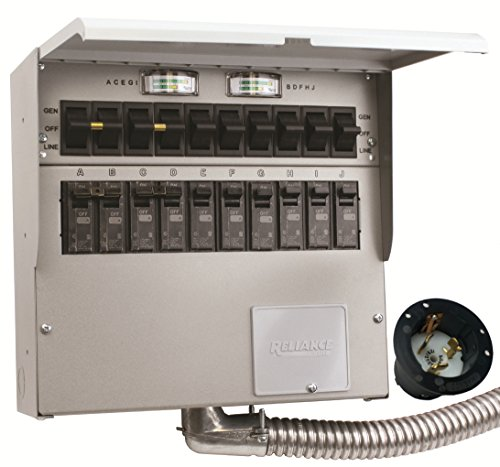 A510A Pro Tran2 50-Amp 10-Circuit 2 Manual Transfer Switch with Optional Power Inlet
