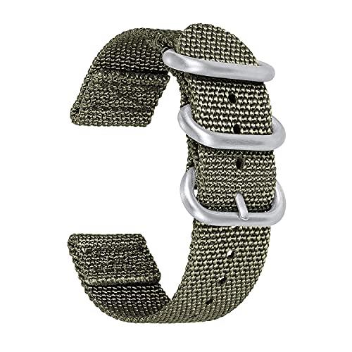 Banda de reloj de nylon compatible con Samsung Watch Galaxy 42mm / activo 2 40mm 44mm, Huawei GT / GT2 4 2mm, correas de zulú de 20 mm para la Amazfit BIP / GTS / GTR 4 2mm, Garmin Forerunner 245/645