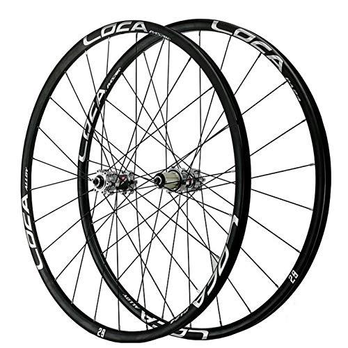 Accesorio de bicicleta de ejes de liberación rápid MTB Mountain Bike Wheels 26 27.5 29 pulgadas Ultralight CNC RIM Disc Freno Bicicleta Wheelset QR 7 8 9 10 11 11 Passette Velocidad Flywheel 24h 1700g