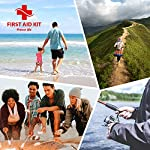 First Aid Kit - 200 piece - for Car, Home, Travel, Camping, Office or Sports | Red bag w/reflective cross, fully stocked… 9