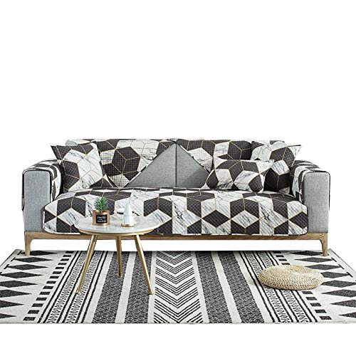 Cubre sofá Antimanchas,Cojín de sofá de Tela Universal Twill Four Seasons, Figura geométrica-AT_Sleeve + Core,sofá 3 plazas Cubre Sofas Impermeable