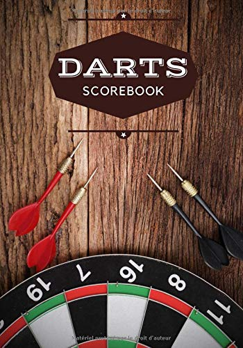 Darts Scorebook: Darts Scorebook | 100 Dart Score Sheets for 300 Games | Up to 5 players per Game | 7
