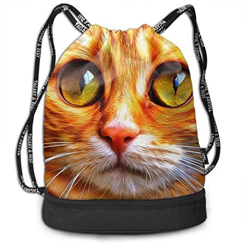 KKLDOGS Backpack Drawstring Bag Cute Cat Gym Drawstring Bags