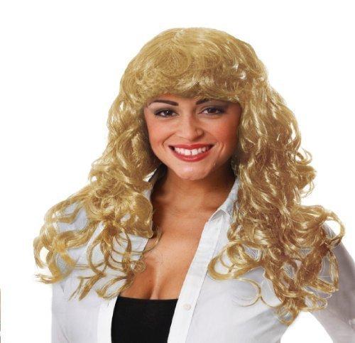 Perruque blonde bouclé costume déguisement accessoire