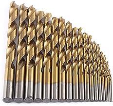 SODIAL 19 piezas Taladro de aleacion de cobalto HSS Set Bit 1mm-10mm Herramientas de calidad alemana