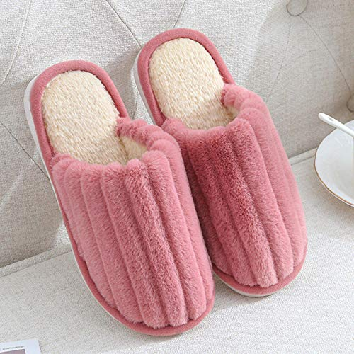 Charm4you House Slippers Memory Foam Slippers,Winter indoor warm non-slip cotton slippers-Naked fan_40-41,Comfortable Warm