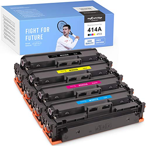 Price comparison product image myCartridge SUPRINT NO CHIP Compatible Toner Cartridge Replacement for HP 414A 414 A W2020A use with Color Laserjet Pro MFP M454dw M479fdn M479fdw M454dn M479dw (Black Cyan Magenta Yellow,  4 Pack)