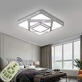 MIWOOHO 64W Regulable LED Luz de techo Moderno lámpara de techo para Dormitorio,Cocina,oficina,Lámpara de sala de estar