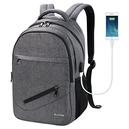 Tigernu impermeabile resistente anti-furto Zip Business Laptop Backpack-Marrone