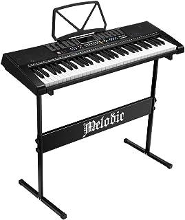 Melodic 61 Key Electronic Piano Keyboard Electric Digital Piano Audio U-Disk Input Headphone Jack 50 Demo Songs Music Shee...
