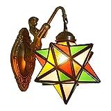 Lyghtzy® Retro Estilo Marroquí Elegante Sirena Con Colgante Cristal Multicolor...