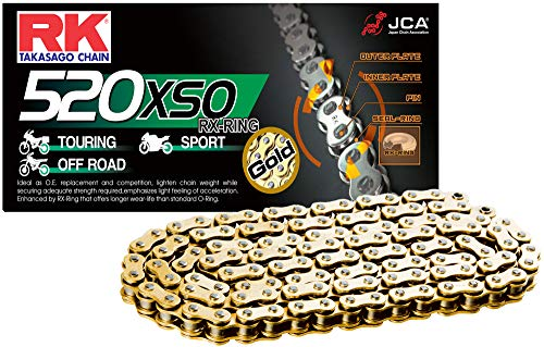 RK Racing Chain GB420MXZ-140 Gold 140-Links Heavy Duty Chain with Connecting Link