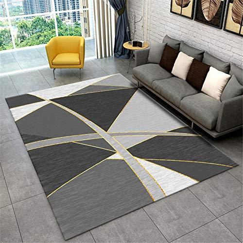Dormitorio Juvenil alfombras para Salon La Alfombra Gris en la Sala de Estar es Antideslizante, Resistente al Desgaste, Suave y no deformada. Cuadros Comedor 160X200CM 5ft 3' X6ft 6.7'