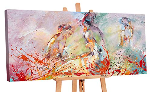 YS-Art Premium | Cuadro Pintado a Mano Verano calurosod | Cuadro Moderno acrilico | 120 x 60 cm | Lienzo Pintado a Mano | Cuadros Dormitories | único | Multicolor | PS058