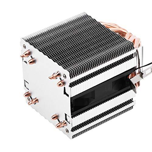 Annadue 6 Dissipatore CPU Heatpipe, dissipatore CPU Dual Tower, Ventola CPU, Silenzioso per Computer PC per LED Blu AMD/Intel, Adatto per AMD, Intel 775, 1150, 1151, 1155, 1156, 1366. (Luce Blu)