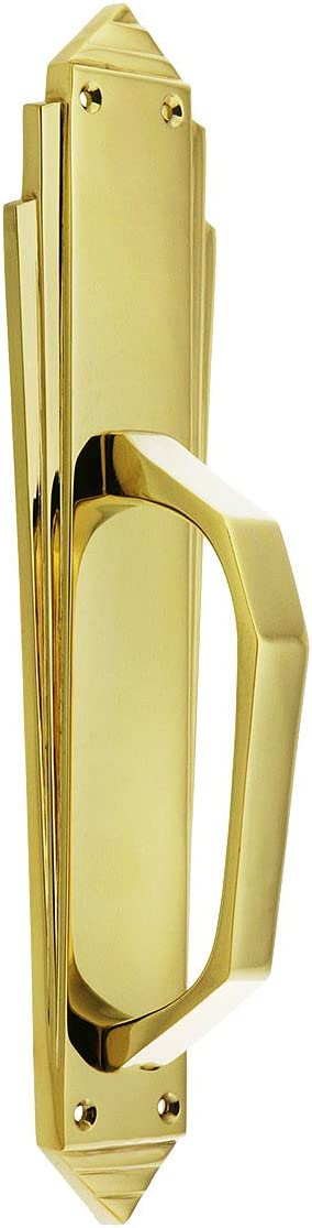 Art Deco Door Pull Cheap mail order specialty store in Brass Finish Ranking TOP4 Polished Solid Cast